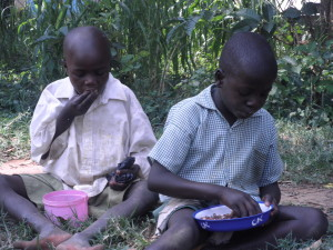 130 vulnerable children receive free lunch of maize and beans every school day